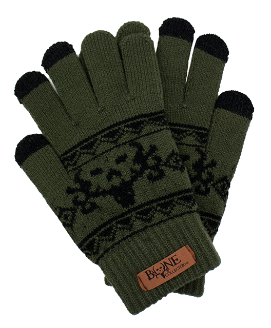 Bone Collector Logo Green Touchscreen Gloves